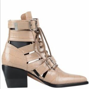 Chloe leather ankle boot NWT retail 1450